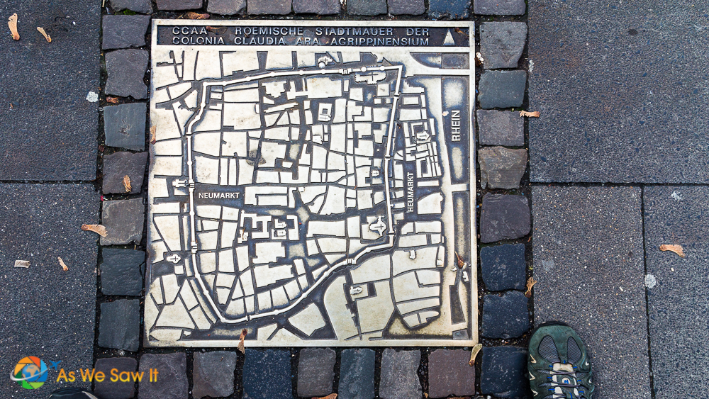 Map of old walled Cologne