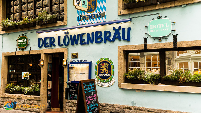 Front of Lowenbrau guesthouse