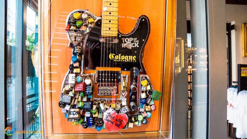 Guitar in Cologne's Hard Rock Café