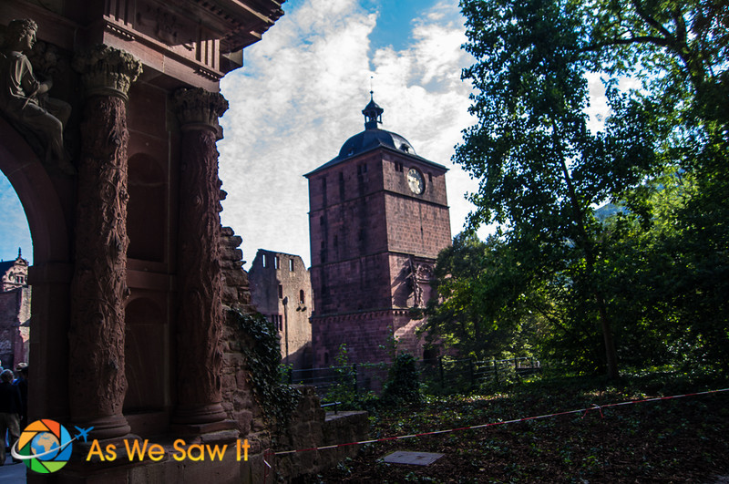View of Heidelberg Castle from the gardens