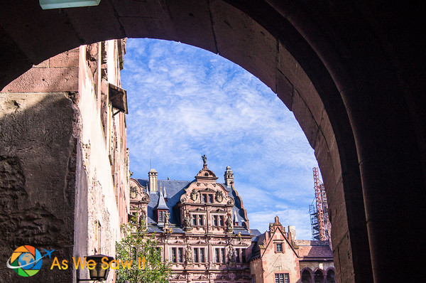 Heidelberg Castle as seen through its gate