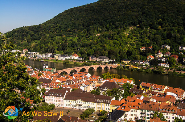 View of the river from the ramparts of Heidelberg Castle