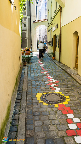 Passau has a vibrant art community near the water.