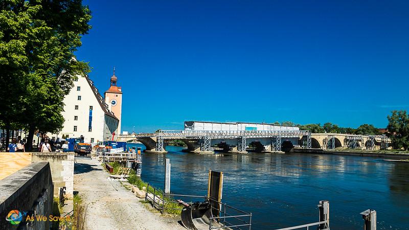 Regensburg's famous stone bridge