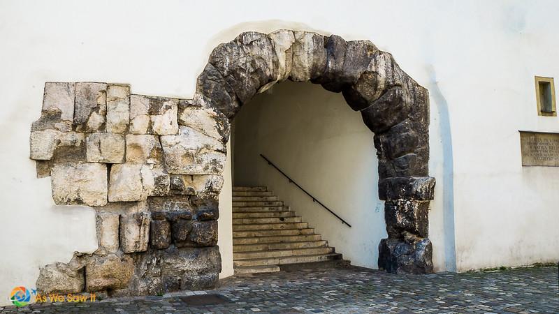 Roman gate in Regensburg