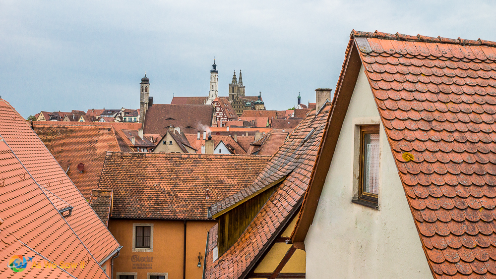 Rot in German is red like the rooftops of the homes in Rothenburg, Germany.