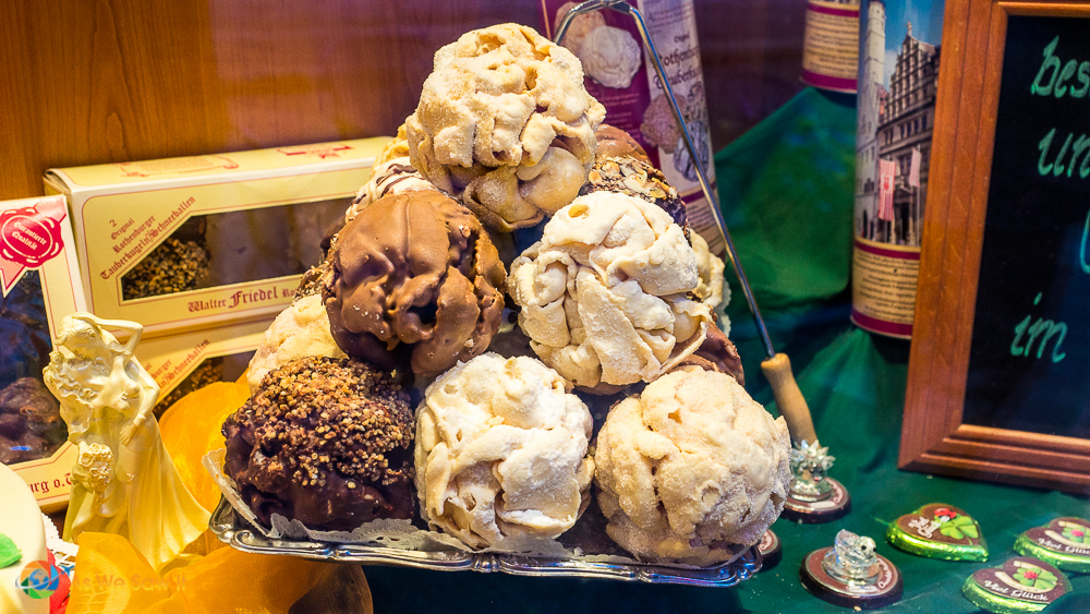 Schneeball is a local pastry that Rothenburg is famous for.