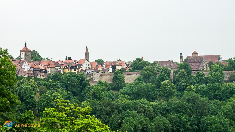 View of Rothenburg from the surrounding walls.