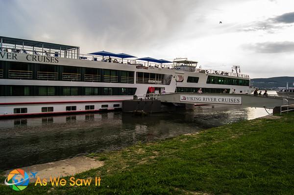 Viking River Cruises Helvetia docked at Rudesheim