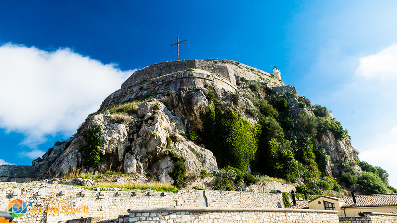 Hilltop with Old Citadel in Corfu