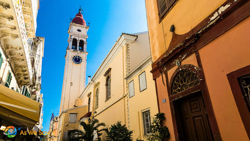Bell tower at St. Spyridon is one of the best things to do in Corfu town Kerkyra