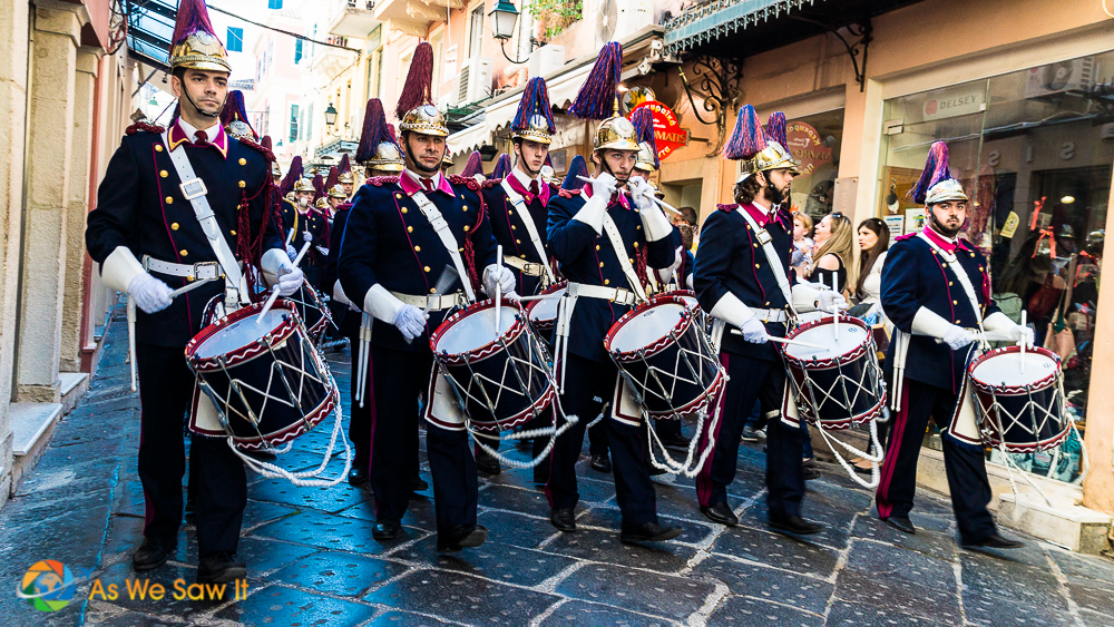 Parading for Ohi Day in Greece
