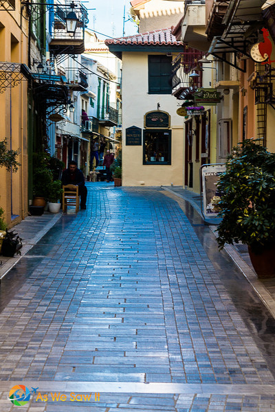 In the ancient town of Nafplion, Greece