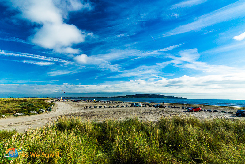Photo of Bull Island dunes, scrub and marsh on Dublin Bay.