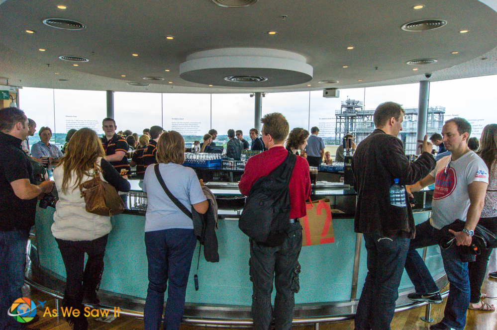 Gravity bar serving Guinness to patrons