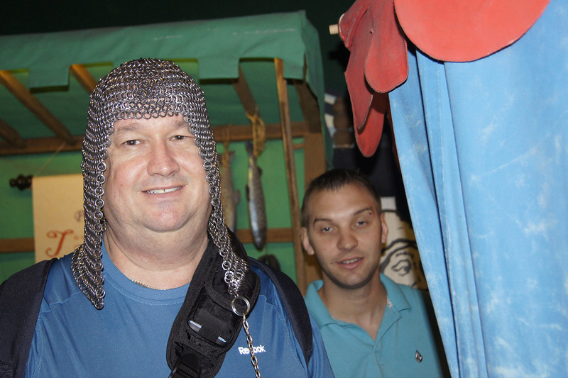 Dan wearing a Viking hat