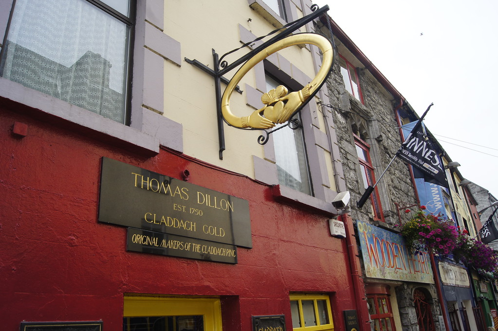 Thomas Dillon Jewellers, Galway, Ireland, is home of the original Irish Claddagh ring.