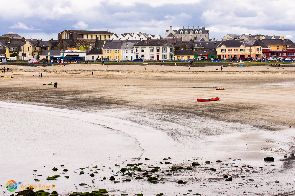Tide is out at Kilkee, Ireland