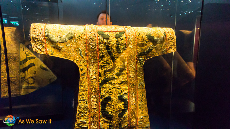 15th century gold vestments in the Viking Triangle museum