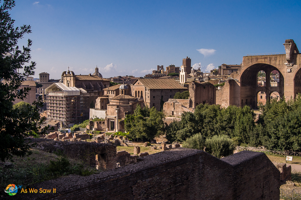 View from the Roman Colosseum