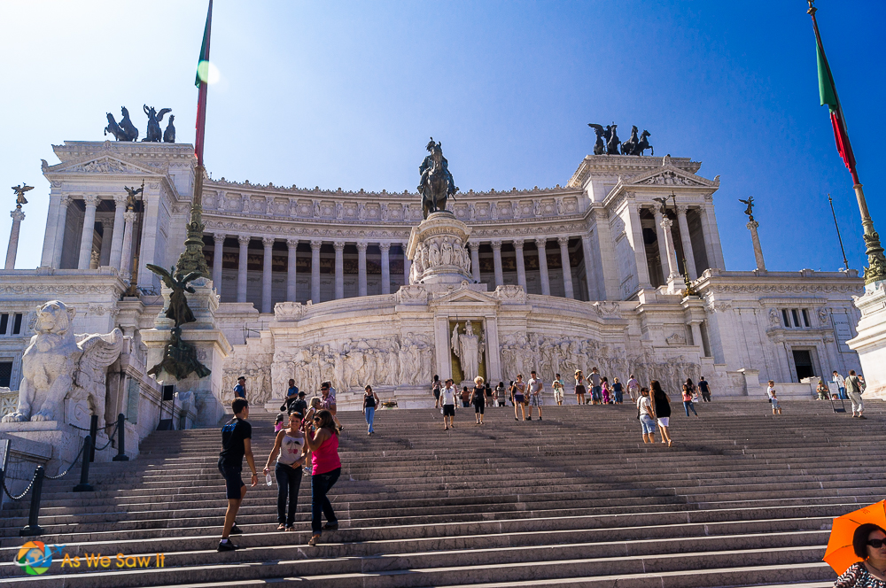 The Alter of the Fatherland or Altare della Patria in Italian