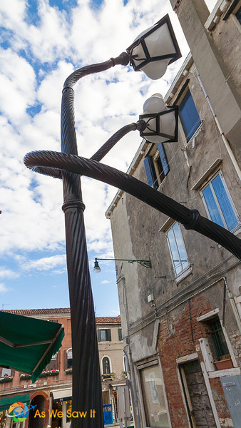 Quirky lampposts on Murano