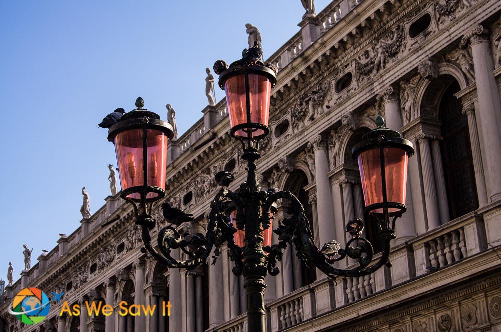 Interesting lamppost in Venice, Italy