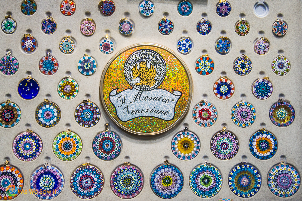 Mosaics done with Venetian glass, Venice, Italy
