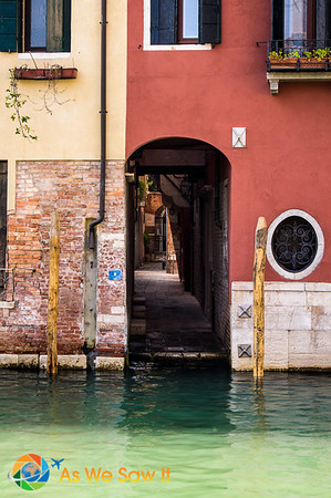 Some Venice passageways end at water.