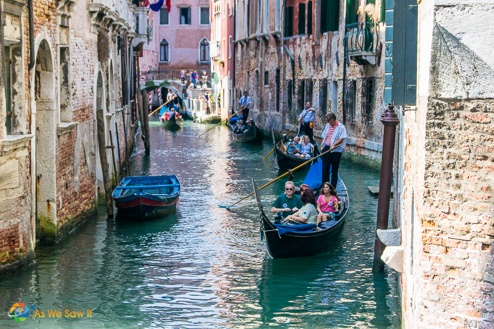 A Gondola ride allows you to experience Venice not just see it