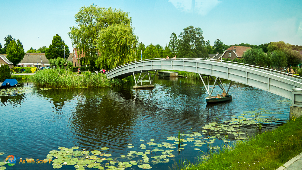 Bridge over a canal in Giessenburg, Netherlands