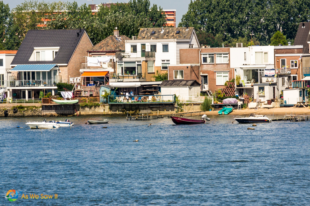 Typical Dutch town along the rhine