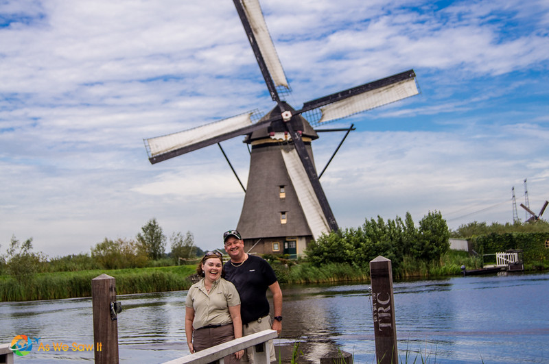 Dan and Linda in front of a Dutch windmill