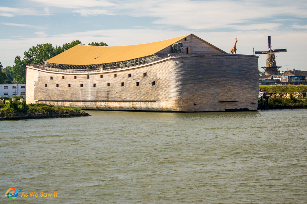 Noah's ark has been rebuilt to scale in the Netherlands.