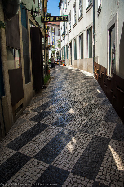 Tiled sidewalk in Porto