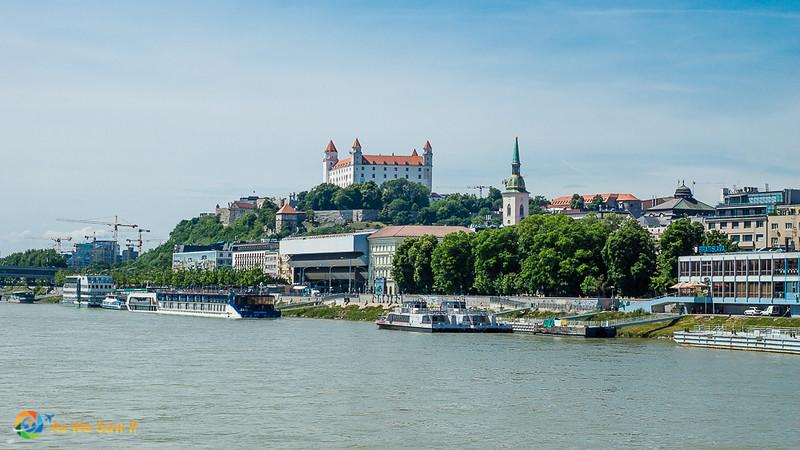 Riverside view of Bratislava