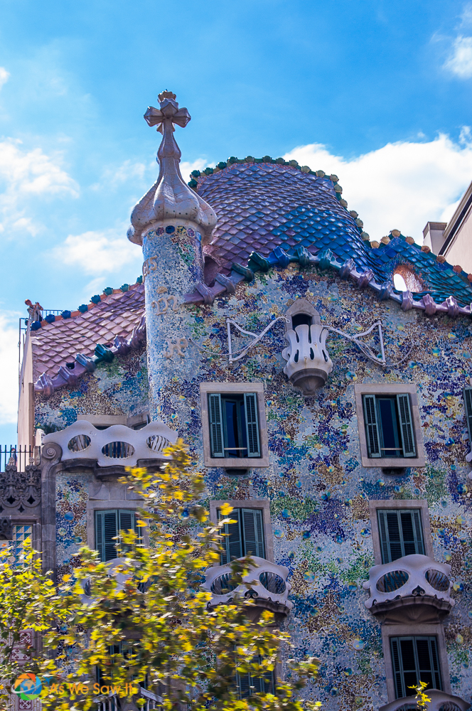 Casa Batllo is one of the most famous Gaudi-designed buildings in Barcelona.