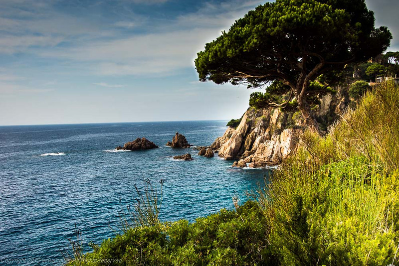 Stunning Spanish Mediterranean coastline in Catalunya