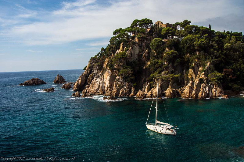 Cruising Costa Brava's coastline