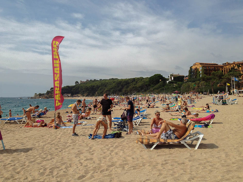 people on the beach at Blanes