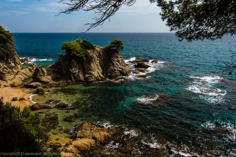 Cliff on Lloret de Mar Costa Brava
