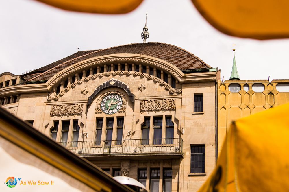 Another clock on Marktplatz, Basel, Switzerland