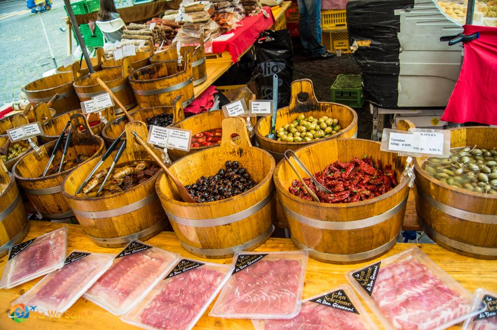 Olives in Marktplatz, Basel.