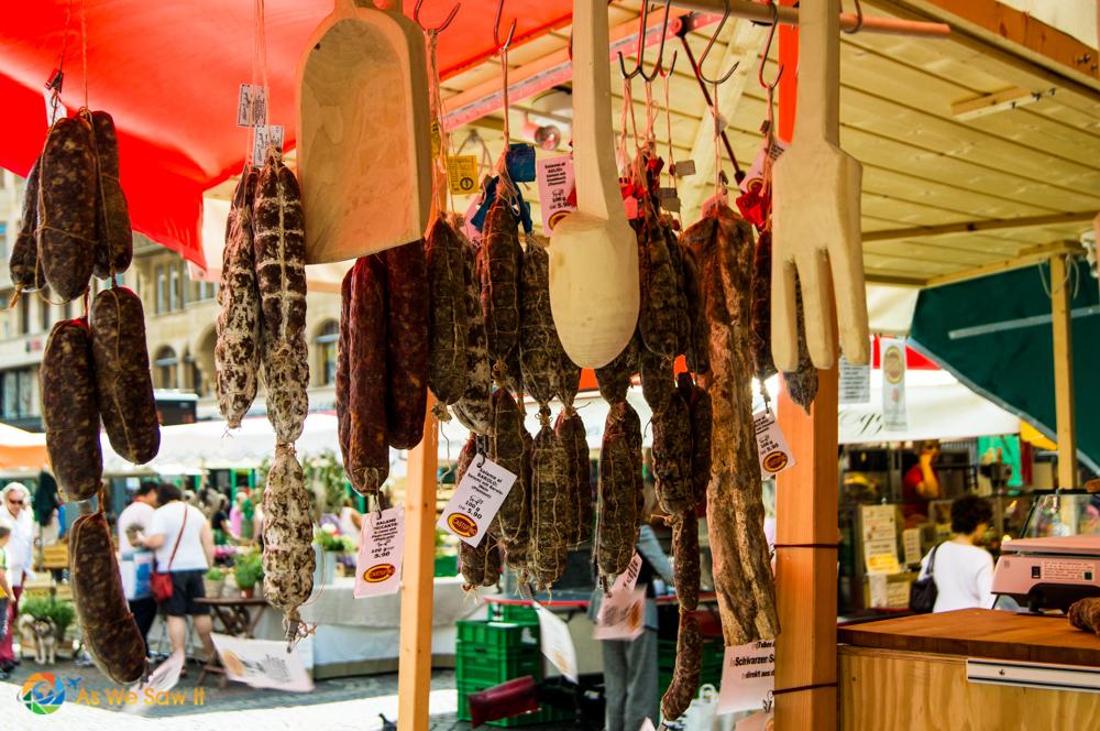 Sausage vendor on Marktplatz, Basel.
