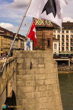 Tower on a bridge in Basel Switzerland