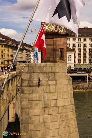Tower on a bridge in Basel Switzerland