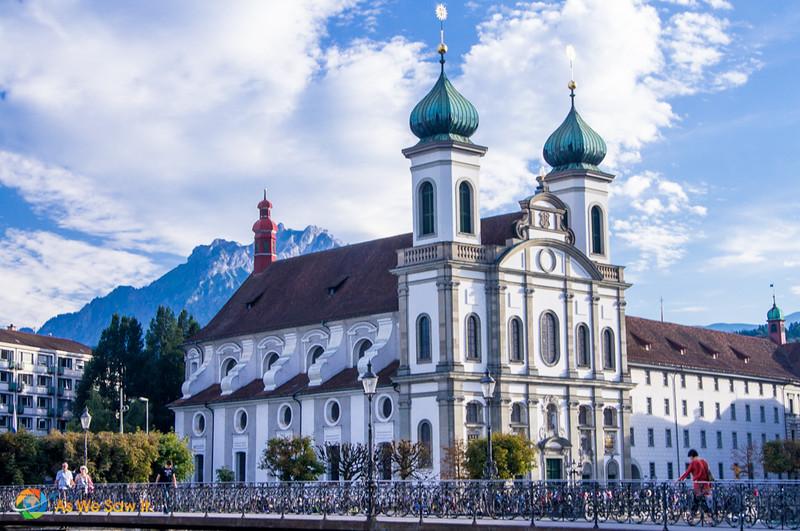 Jesuit Church in Lucerne, Switzerland.