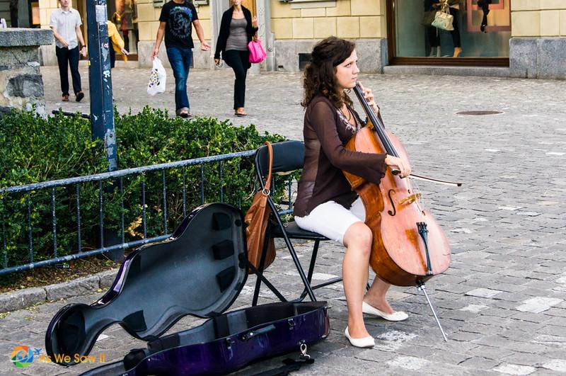 Solo cellist in Lucerne, Switzerland.