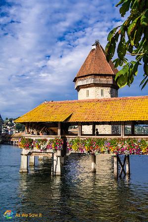 Chapel Bridge on Lake Lucerne.