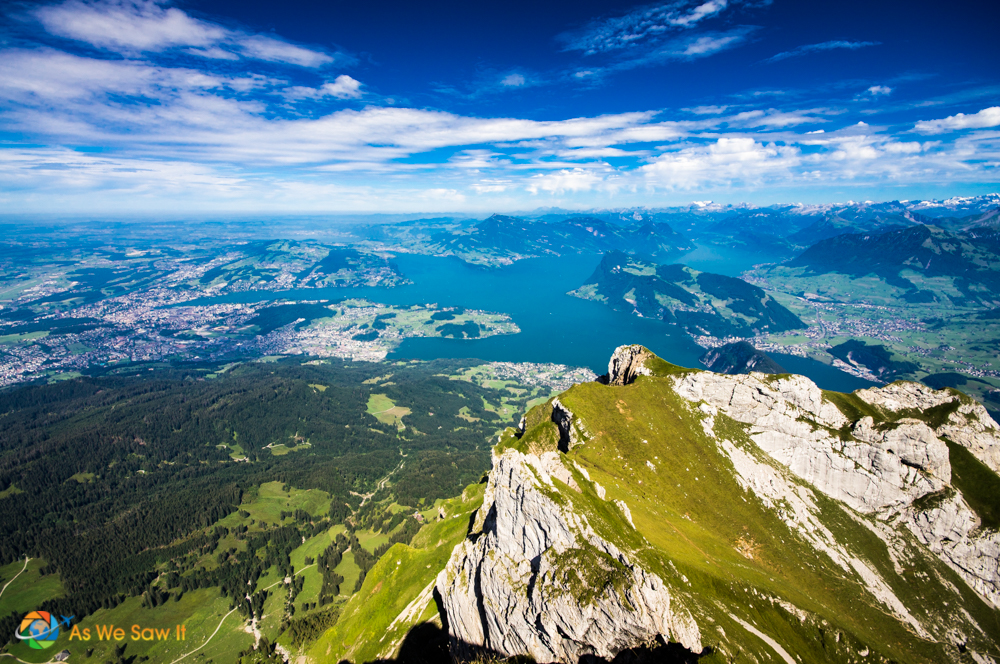 View of Lake Lucerne from Mount Pilatus.